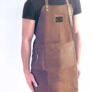 Tablier de cuisine en cuir