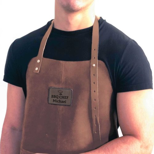Tablier de cuisine en cuir personnalisé