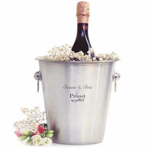 Seau à Champagne avec gravure