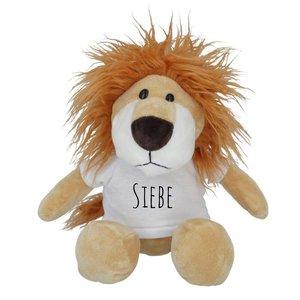 Lion en peluche personnalisé