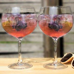 Gepersonaliseerde Gin en Tonic Glazen