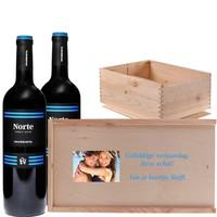 Wijnkist duo rode wijn met foto