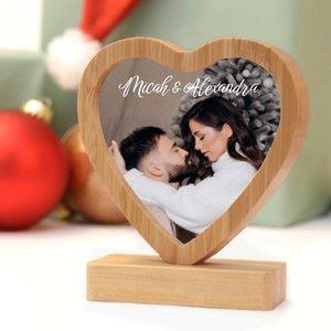 Coeur en bambou avec photo