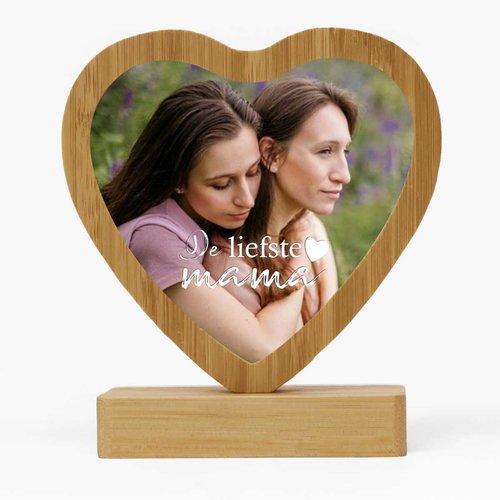 Cœur sur pied de bambou personnalisé