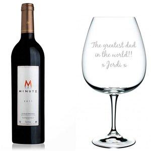 Magnum Wijnglas met gravering