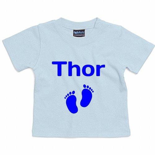 Baby T-shirt Korte Mouw met tekst