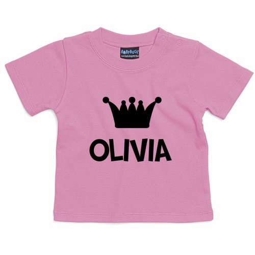 T-shirt Bébé à Manches Courtes avec texte