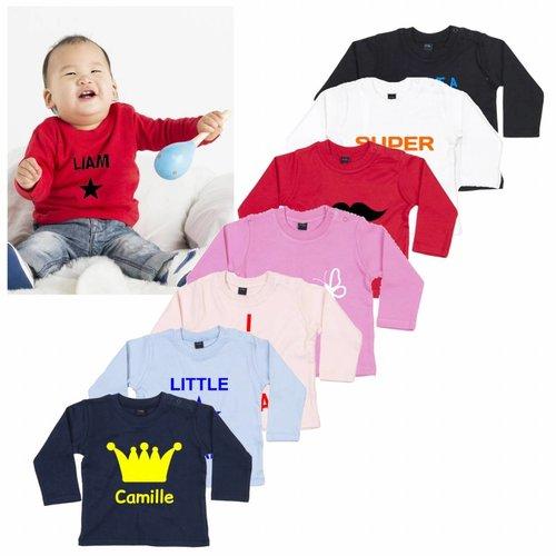 T-shirt Bébé à Manches Longues avec personnalisation