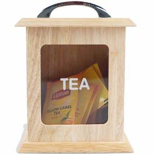 Boîte à thé personnalisée avec fenêtre