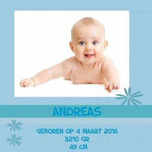 Geboortetegel met foto