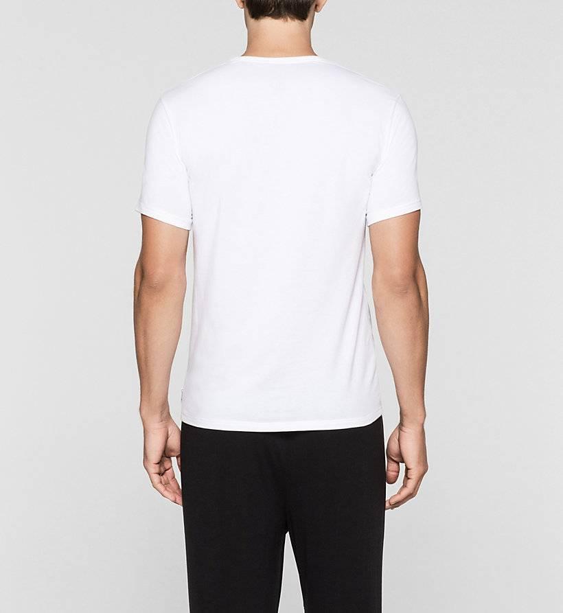 Calvin Klein T-shirt korte mouw met v-hals (dubbelpak)