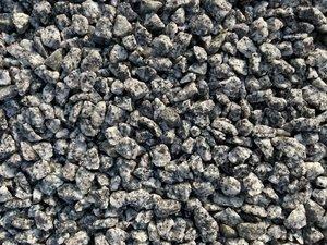 Zilvergrijze edelgraniet siersplit