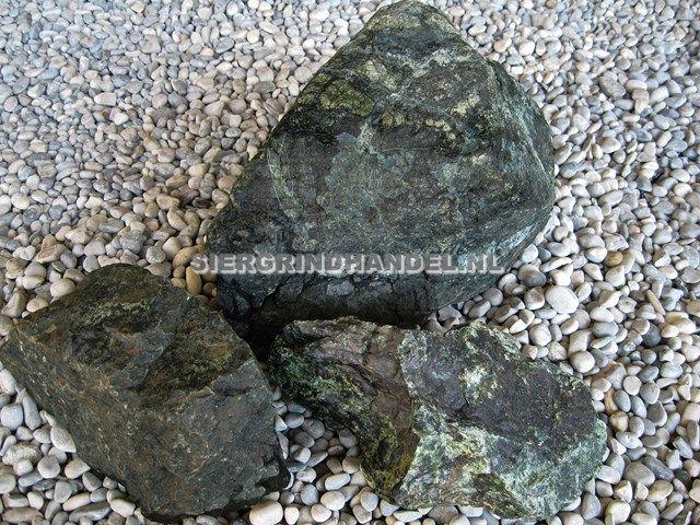 Verde Serpentino sierstenen rots