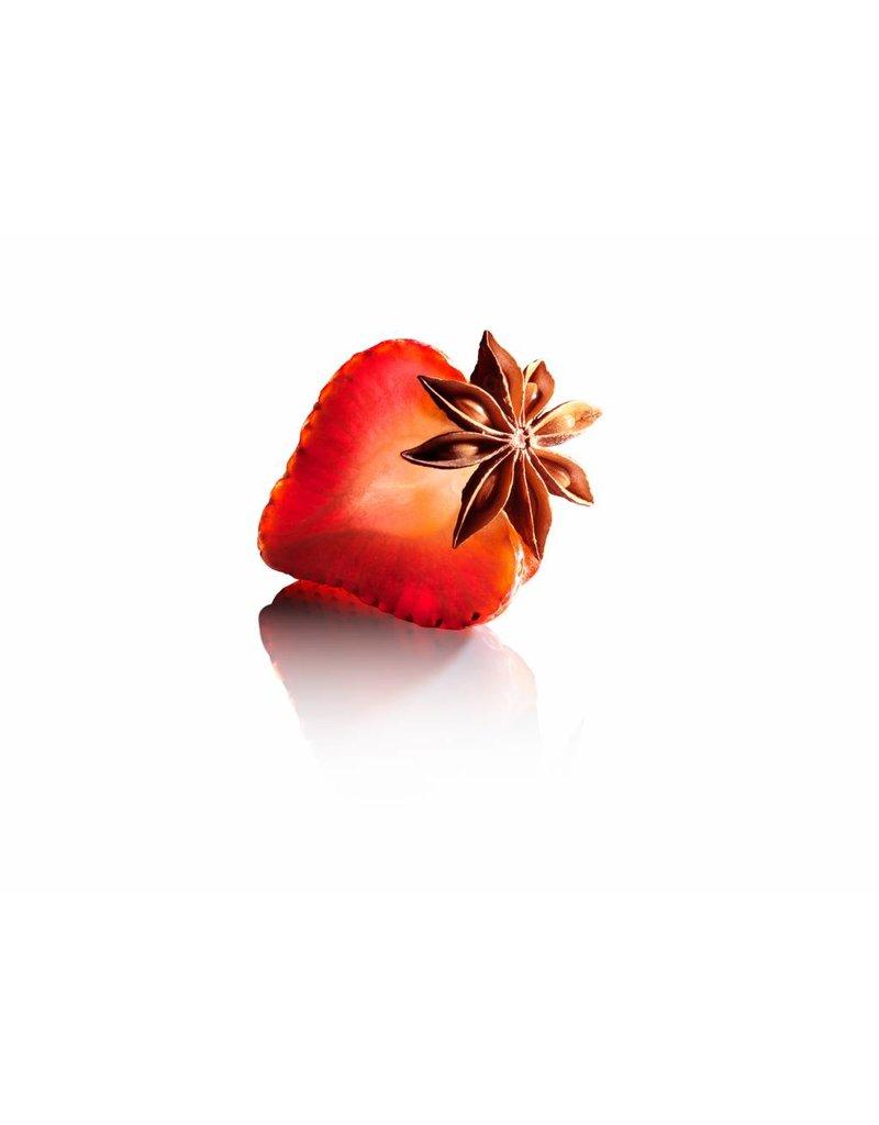 Fruit Emotions, giftset: scrub handschoen, douchegel, body butter, aardbei-anijs