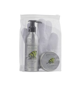 Fruit Emotions, giftset: scrub glove, shower gel , body butter, lime - vanilla