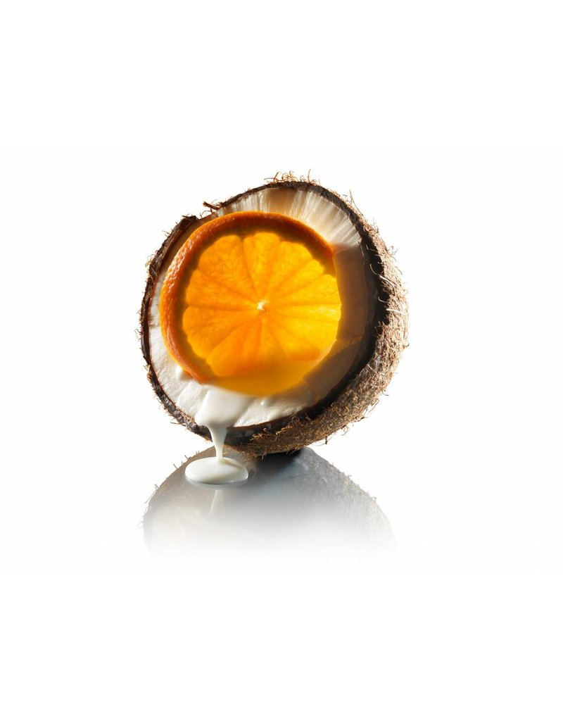 Fruit Emotions, Geschenkset: Peelinghandschuh, Duschgel, Körperbutter, Kokosnuss-Mandarine