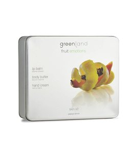 Fruit Emotions skin kit set, body butter, handcrème, lippenbalsem papaja-citroen