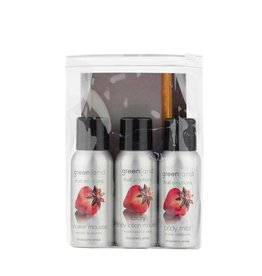 Fruit Emotions, reisset: shower mousse, body lotion mousse, body mist,  aardbei-anijs