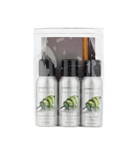 Fruit Emotions, travel set: shower mousse, body lotion mousse, body mist, lime-vanilla