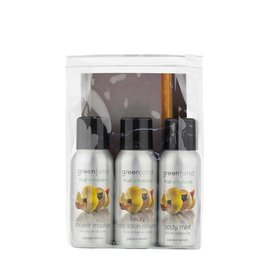 Fruit Emotions, travel set: shower mousse, body lotion mousse, body mist,  Papaya-Zitrone