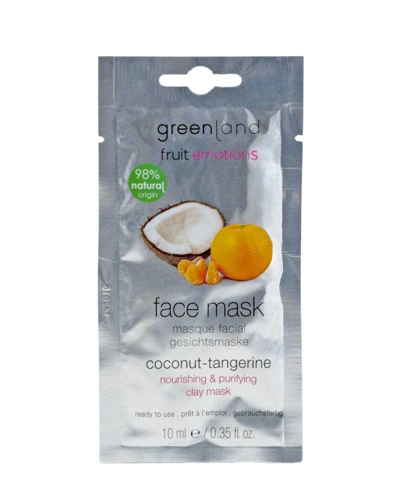 Fruit Emotions, Gesichtsmaske, Kokosnuss-Mandarine, 10 ml