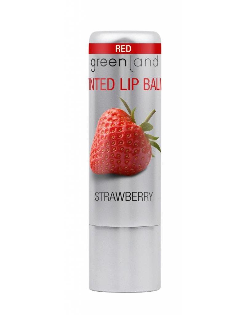 Glossy lip balm red 3.9 gr, strawberry
