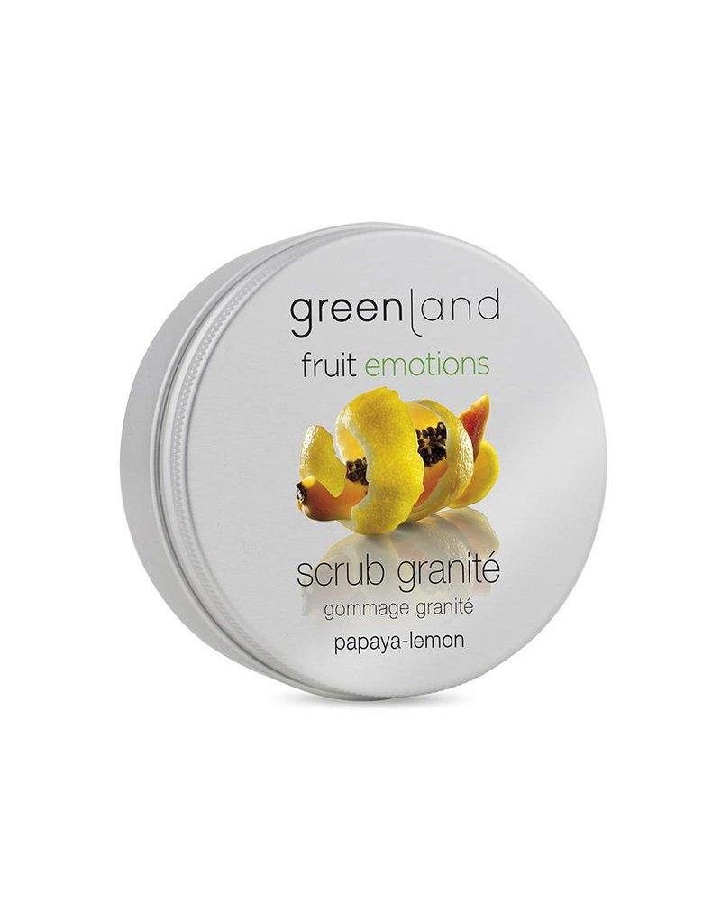 Fruit Emotions scrub granité 200 ml, papaya-lemon