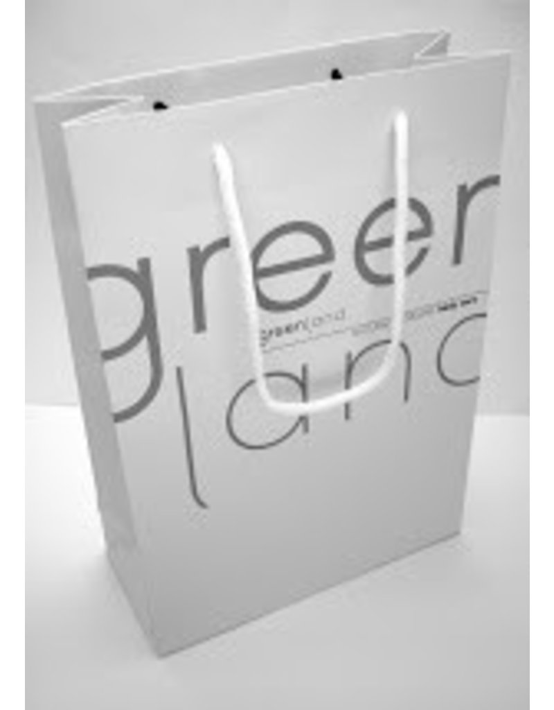 Greenland white shopper bag