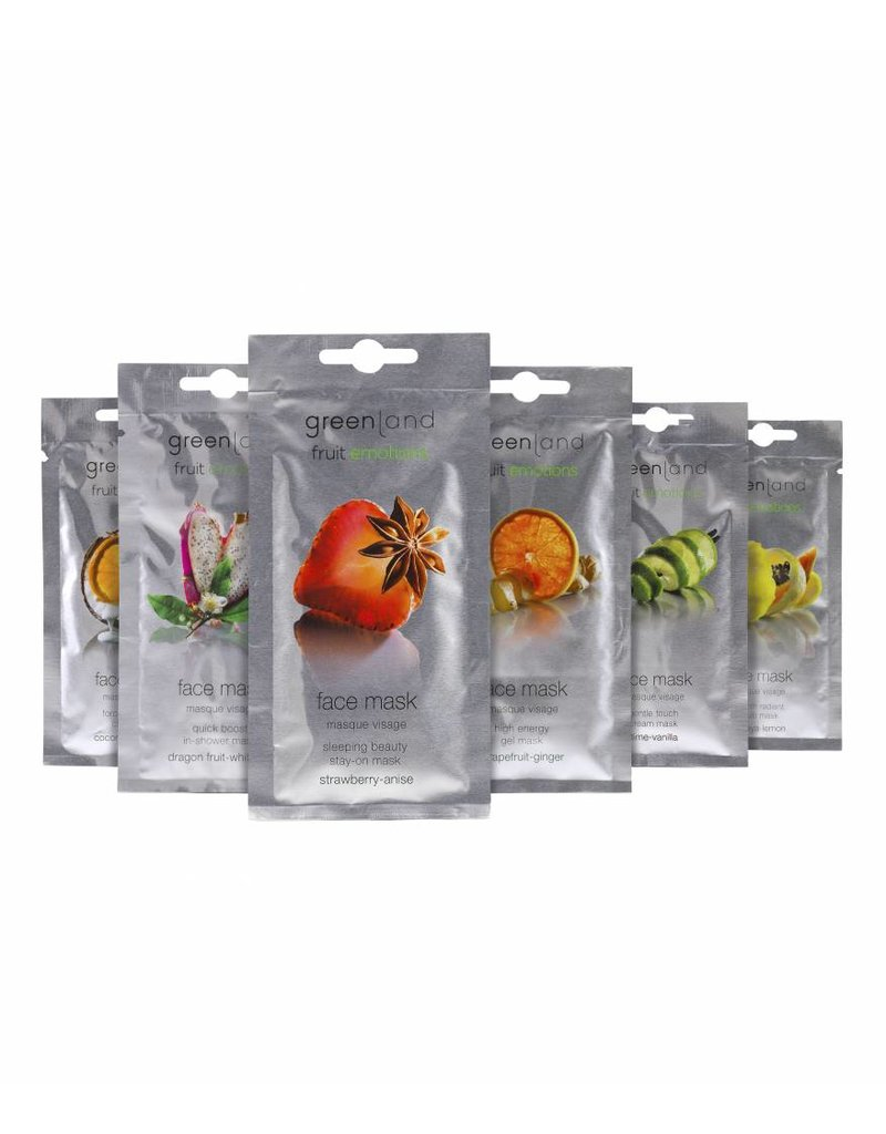 Greenland Fruit Emotions, face mask, papaya-lemon, 10 ml