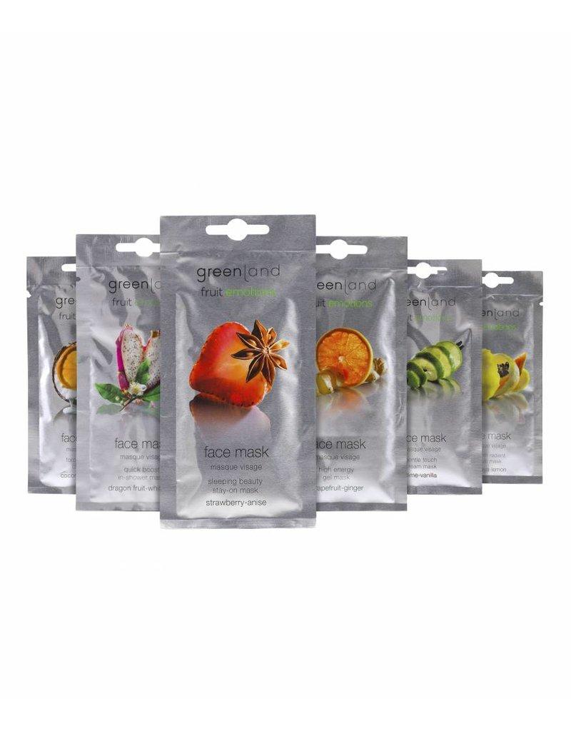 Greenland Fruit Emotions, Gesichtsmaske, Limette-Vanille, 10 ml