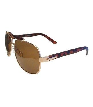 Lichtbruine Pilotenbril