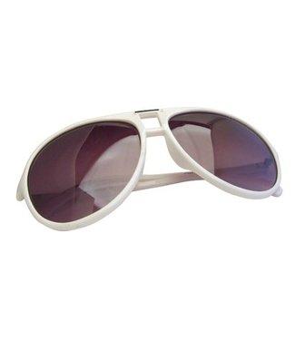 Witte Vintage Zonnebril