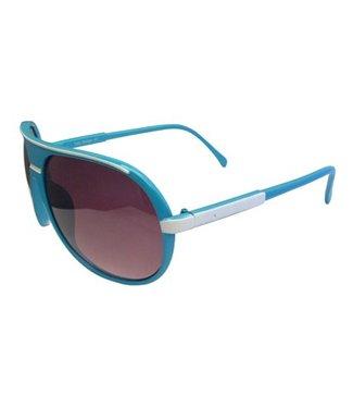 Blauw/Witte Zonnebril
