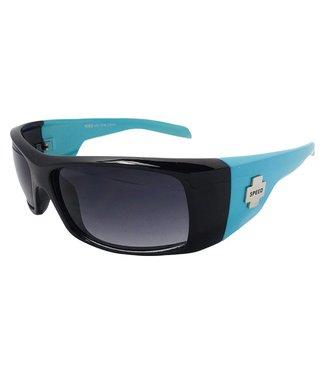 Zwart/Blauwe Chopperbril