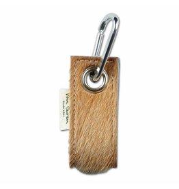 Van Buren Koeienhuid sleutelhanger - Beige