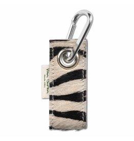 Van Buren Koeienhuid sleutelhanger - Zebraprint