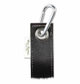 Van Buren Koeienhuid sleutelhanger - Black