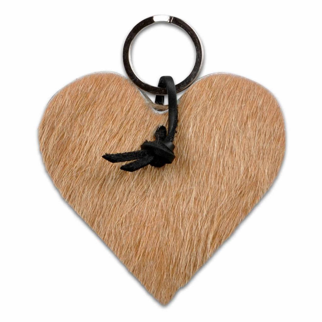 Van Buren Koeienhuid hartvormig - Beige