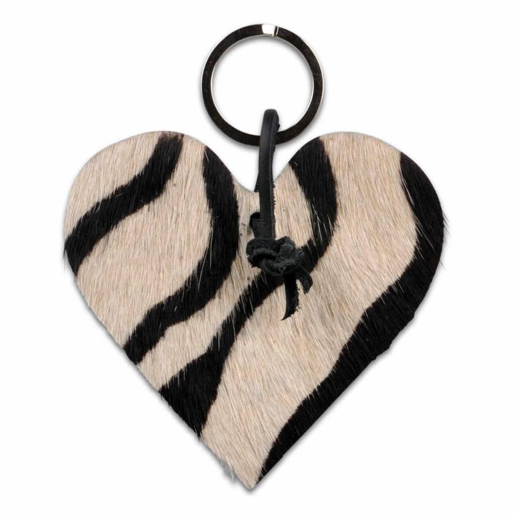 om te kopen te koop laatste stijl Koeienhuid sleutelhanger - Zebraprint