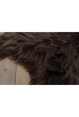 Van Buren Schapenvacht IJslands met  extra lange haren kastanjebruin