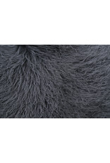 Van Buren Schapenvacht petrol Tibetaans met gekrulde lange haren
