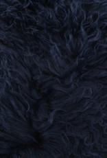 Van Buren Marine blauw gekruld Tibet schapenvacht
