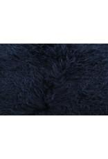 Van Buren Schapenvacht marineblauw Tibetaans met gekrulde lange haren