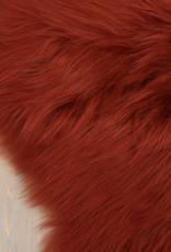 Van Buren Burned Orange langharig schapenvacht