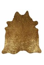 Van Buren Metallic gouden koeienhuid vloerkleed metallic
