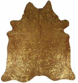 Van Buren Koeienhuid vloerkleed - 200x200 - Goud metallic