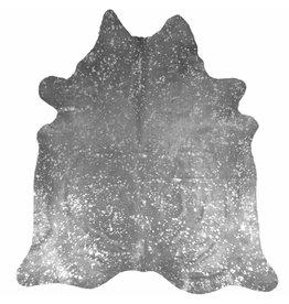Van Buren Koeienhuid vloerkleed - 200x200 - Zilver metallic