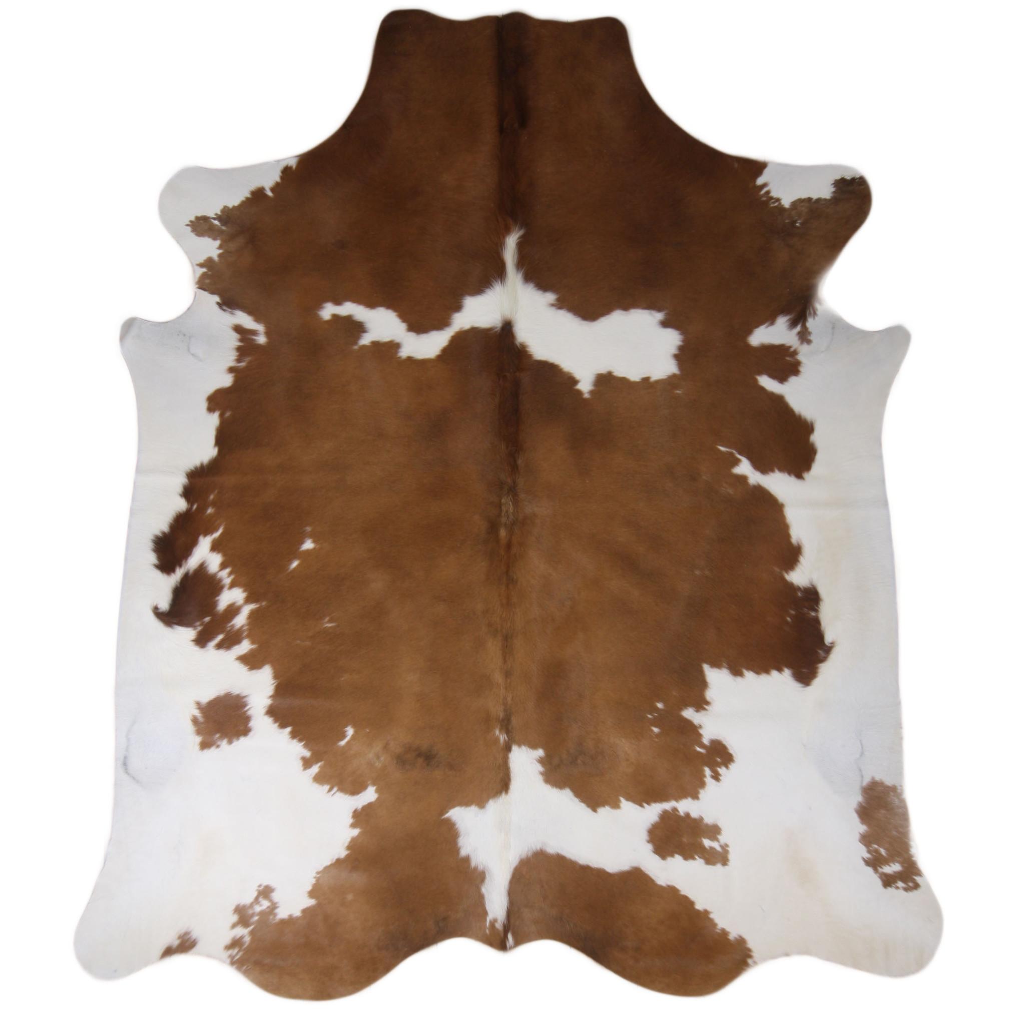 Van Buren Bruin-witte koeienhuid vloerkleed