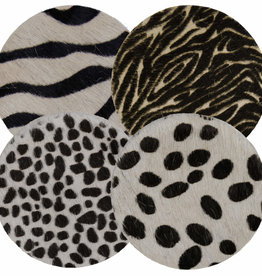Koeienhuid onderzetters - Diverse kleuren