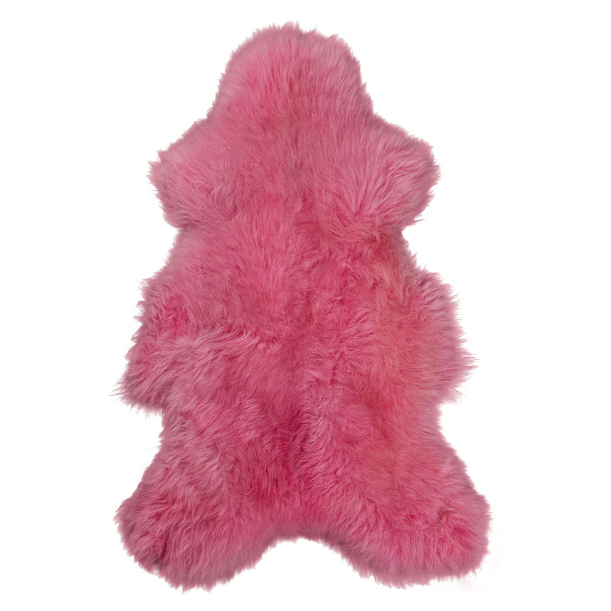 testVan Buren Schapenvacht fuchsia / roze Texels